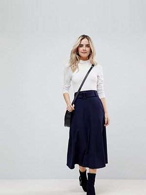 ASOS Petite Tailored Simple Midi Skirt With Selfbelt