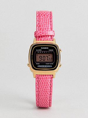 Casio LA670WEGL-4AEF Mini Pink Leather Digital Watch