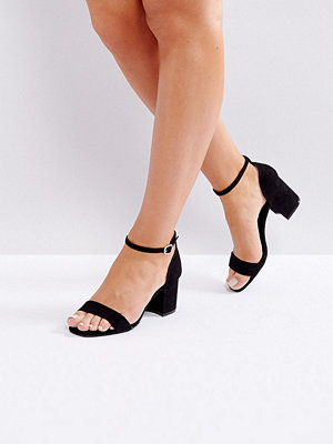 Sandaler & sandaletter - New Look Wide Fit Low Block Heel Square Toe Sandals