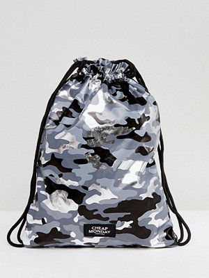 Cheap Monday ryggsäck Camo Print Drawstring Bag