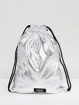Cheap Monday ryggsäck Metallic Drawstring Backpack