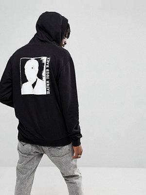 Street & luvtröjor - Vans Zip-Up Hoodie With Back Print In Black VA36SYBLK