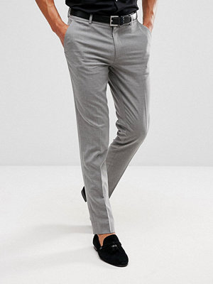 Byxor - ASOS Skinny Smart Trousers In Grey
