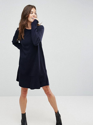 ASOS Knitted Dress with Frill Hem
