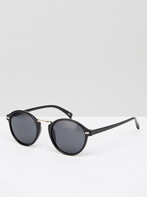 Solglasögon - Jeepers Peepers Round Sunglasses In Black/Silver