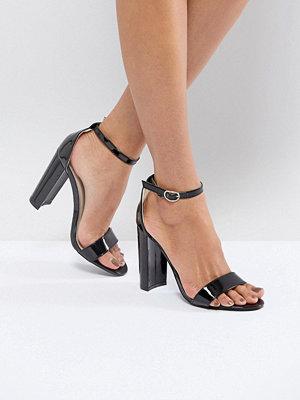 Sandaler & sandaletter - Glamorous Black Barely There Block Heeled Sandals