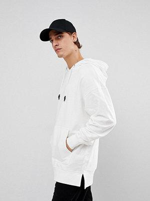 Street & luvtröjor - New Look Dropped Shoulder Hoodie In Ecru