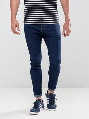 Bershka Super Skinny Jeans In Blue Wash