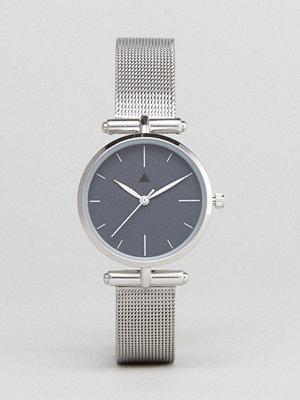 Klockor - ASOS Curve Premium Dark Grey Shoulder Detail Mesh Watch
