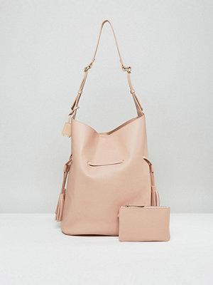Glamorous shopper Oversized Hobo Bag With Tassel Detail