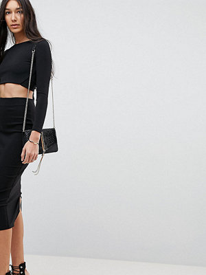 Asos Tall ASOS DESIGN Tall high waisted longerline pencil skirt