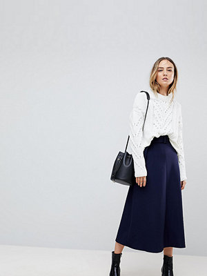 Asos Tall Tailored Simple Midi Skirt With Selfbelt