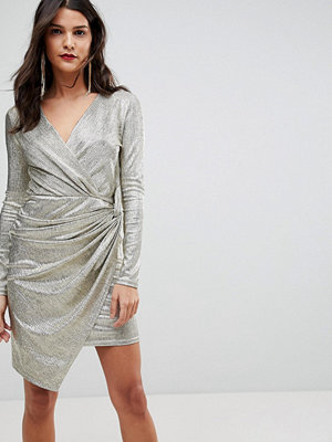 Morgan Wrap Front Mini Dress