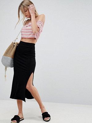 ASOS Rib Midaxi Skirt with Side Splits
