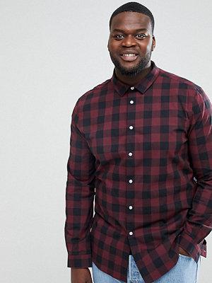 Skjortor - ASOS PLUS Skinny Buffalo Check Shirt