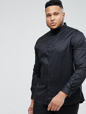 Skjortor - Heart & Dagger PLUS Skinny Shirt With Grandad Collar