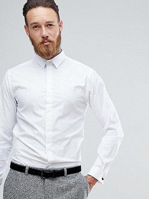 Skjortor - Heart & Dagger Skinny Dress Shirt With Double Cuff and Silk Knots