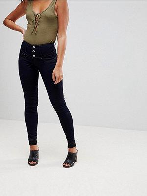 Salsa Mystery bum sculpt jeans med hög midja i smal passform Mörkblå