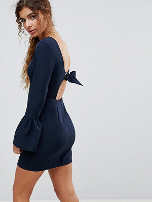 ASOS Bow Back Mini Dress with Fluted Sleeve