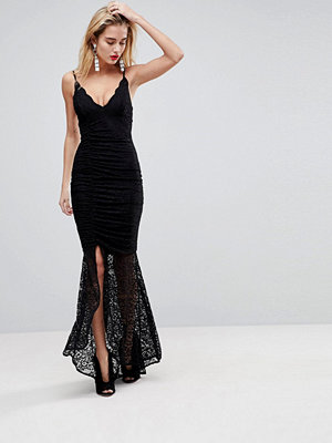 ASOS Cami Ruched Lace Sexy Maxi Dress