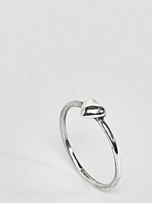 Reclaimed Vintage Inspired Sterling Silver Heart Ring