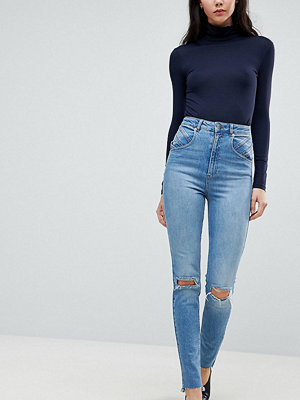 Asos Tall Farleigh Slim Mom Jeans with Seamed 80s detail