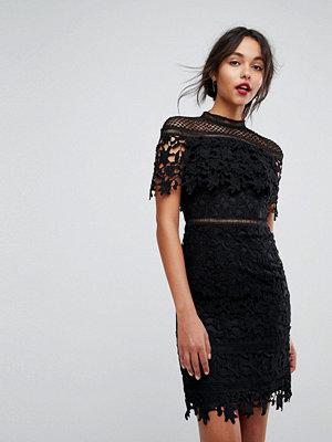 Chi Chi London lace high neck mini dress