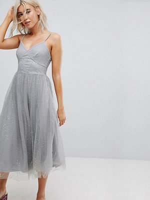 New Look Sparkle Mesh Midi Dress
