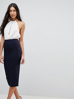 Asos Tall High Waisted Longerline Pencil Skirt