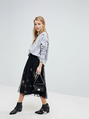 Pimkie Galaxy Embellished Mesh Midi Skirt