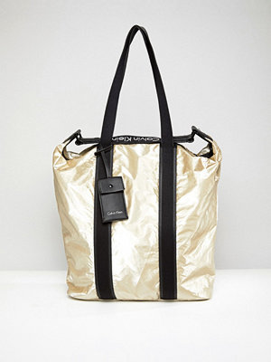 Calvin Klein Metallic Shopper Bag