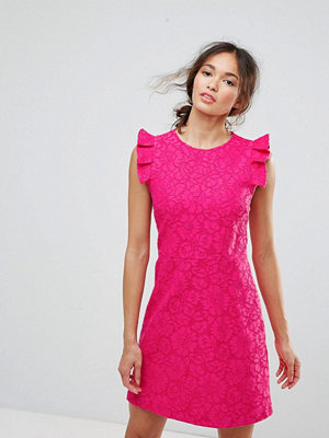 Warehouse Lace Ruffle Dress