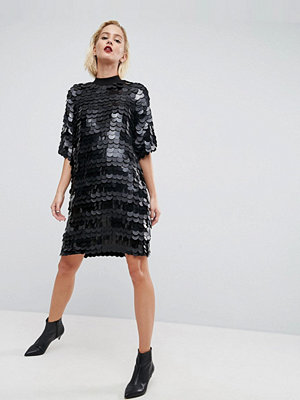 ASOS White Premium Sequin Mini Dress