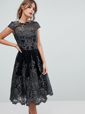 Chi Chi London Premium Lace High Low Dress