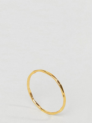 ASOS Curve Gold Plated Sterling Silver Faceted Ring
