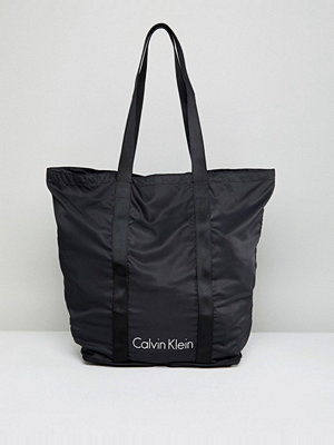 Calvin Klein Packable Shopper Bag in Black