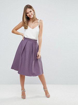 Closet London Closet Full Pleat Midi Jacquard Skirt