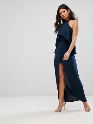 Girl In Mind High Neck Frill Maxi Dress