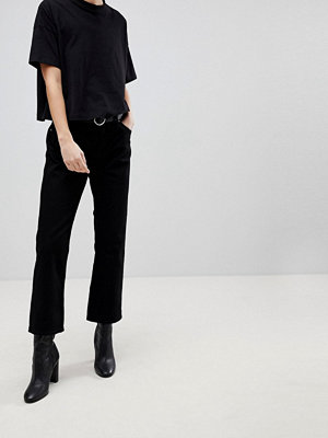 Dr. Denim Mid Waist Cropped Flare Jeans