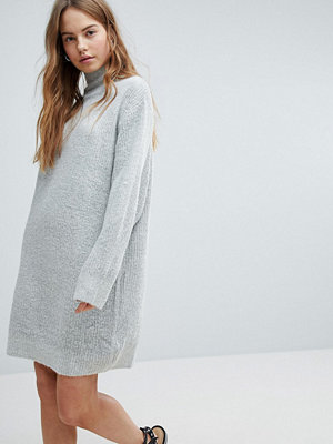 Bershka High Neck Knitted Jumper Dress