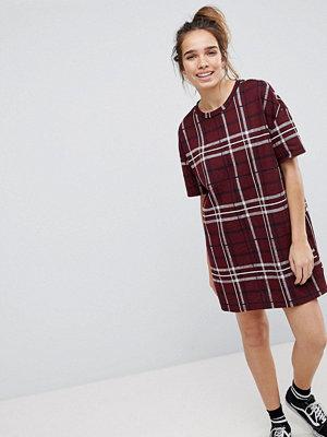 Pull&Bear Check Tunic Dress
