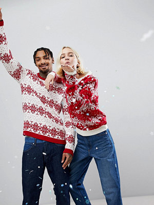 Tröjor & cardigans - ASOS Christmas Jumper With Snowflake and Tree