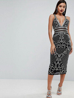 ASOS Edition Ergonomic Strappy Embellished Midi Dress