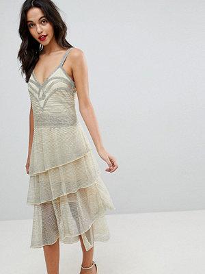 ASOS Edition All Over Beaded Flapper Midi Dress