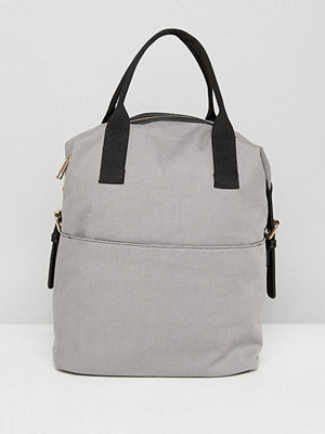 ASOS ryggsäck Zip Over Canvas Backpack with Double Handle