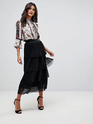 Morgan Ruffle Lace Midi Skirt