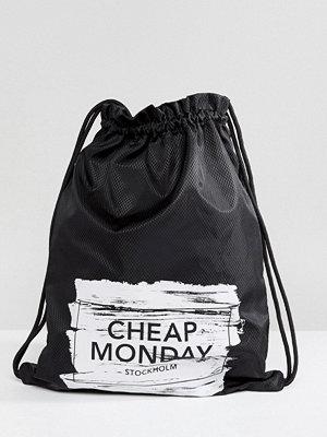 Cheap Monday ryggsäck Paint Brush Logo Drawstring Bag