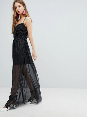 Bershka Mesh Cami Dress