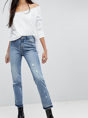 Missguided Tall Distressed Hem Jeans