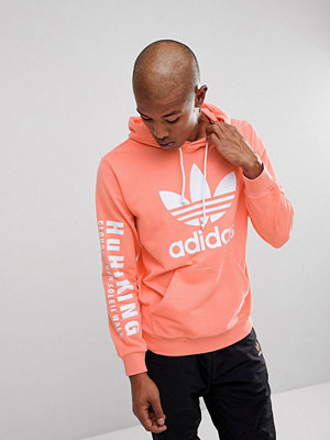 Adidas Originals x Pharrell Williams Hu Hiking Hoodie With Arm Print In Pink CY7875